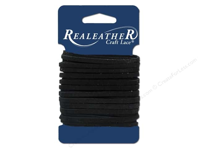Silver Creek Suede Lace 1/8 in. x 8 yd. Black