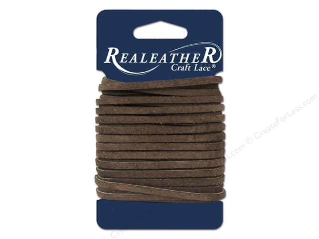 Silver Creek Suede Lace 1/8 in. x 8 yd. Chocolate