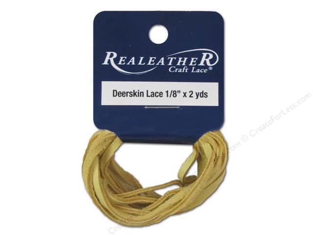 Silver Creek Deerskin Lace 1/8 in. x 2 yd. Buckskin