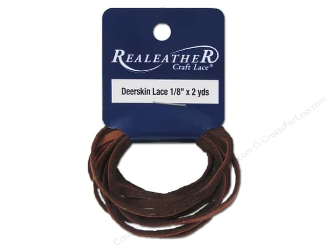 Silver Creek Deerskin Lace 1/8 in. x 2 yd. Saddle Tan
