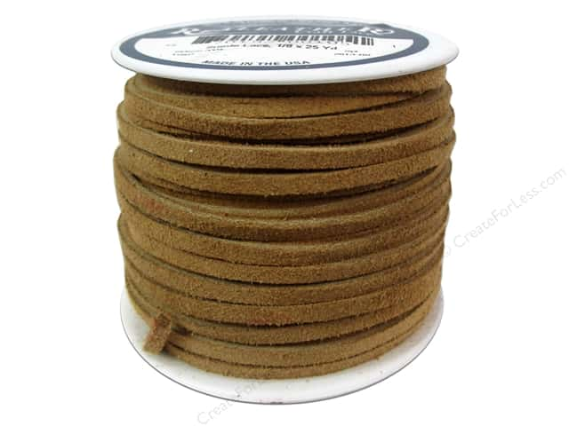 Silver Creek Suede Lace 1/8 in. x 25 yd. Toast