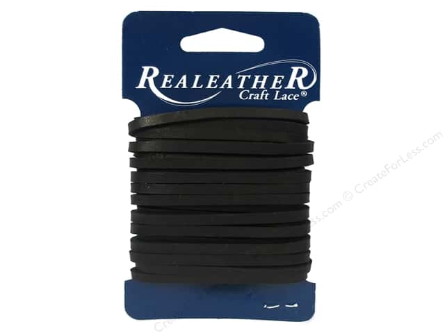 Silver Creek Leather Latigo Lace 1/8 in. x 4 yd. Black
