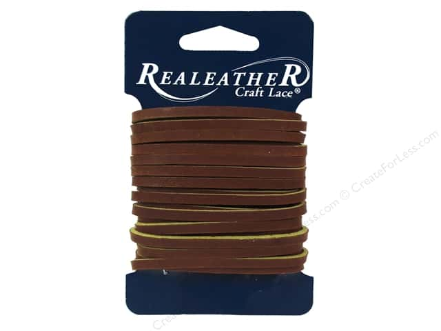 Silver Creek Leather Latigo Lace 1/8 in. x 4 yd. Medium Brown