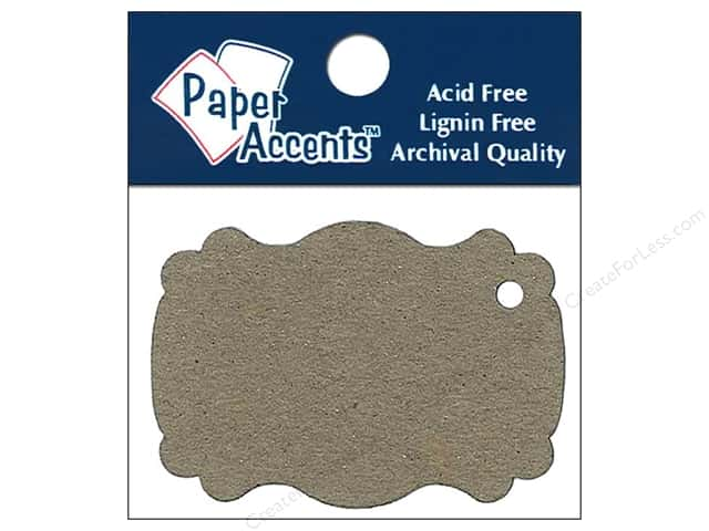 Paper Accents Chipboard Shape Marquee #1 Tag 12 pc. Natural