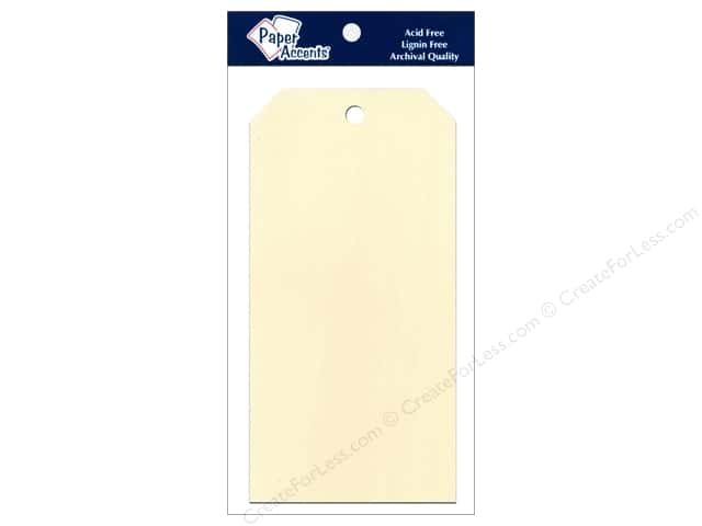 Craft Tags by Paper Accents 3 1/8 x 6 1/4 in. 25 pc. Manila