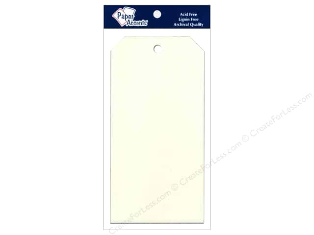 Craft Tags by Paper Accents 3 1/8 x 6 1/4 in. 25 pc. Cream