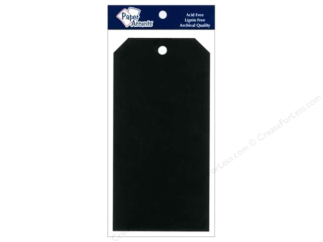 Craft Tags by Paper Accents 3 1/8 x 6 1/4 in. 20 pc. Black