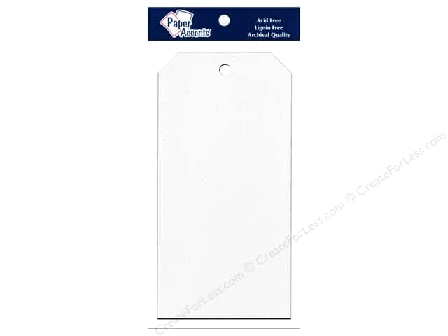 Craft Tags by Paper Accents 3 1/8 x 6 1/4 in. 25 pc. White