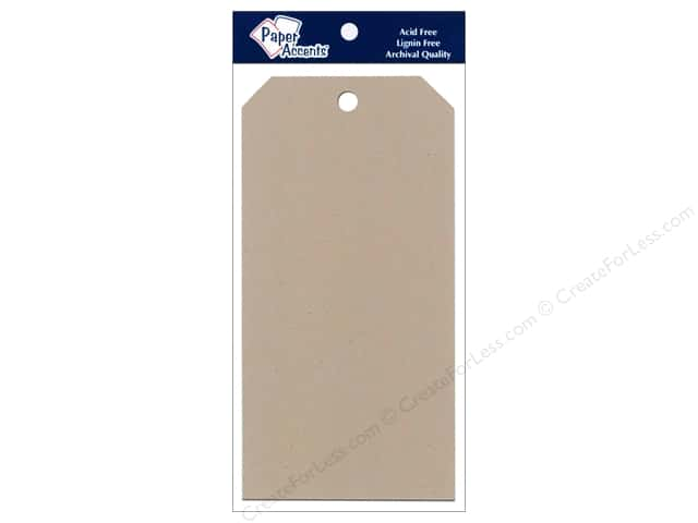 Craft Tags by Paper Accents 3 1/8 x 6 1/4 in. 25 pc. Kraft