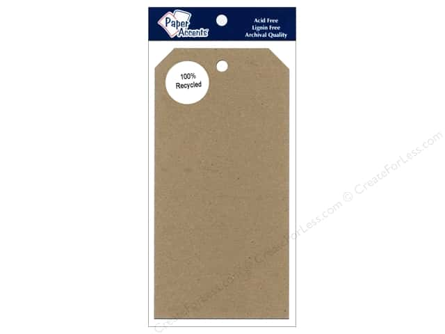 Craft Tags by Paper Accents 3 1/8 x 6 1/4 in. 25 pc. Brown Bag