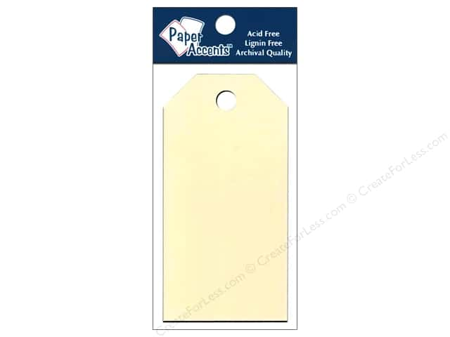 Craft Tags by Paper Accents 1 5/8 x 3 1/4 in. 25 pc. Manila