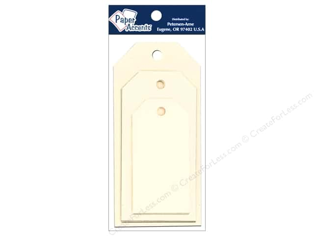 Craft Tags by Paper Accents Assorted Sizes 25 pc. Manila