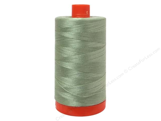Aurifil Mako Cotton Quilting Thread 50 wt. Light Laurel Green 1420 yd.