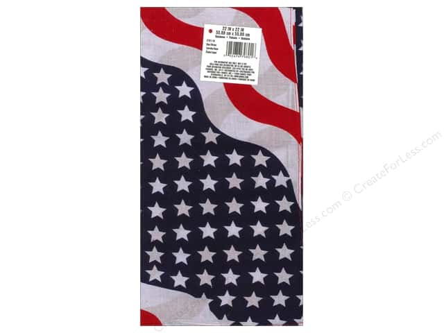 Darice Bandana 22 x 22 in. Stars & Stripes