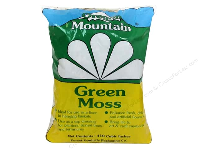 Oregon Mountain Green Moss 410 Cubic Inch Bag
