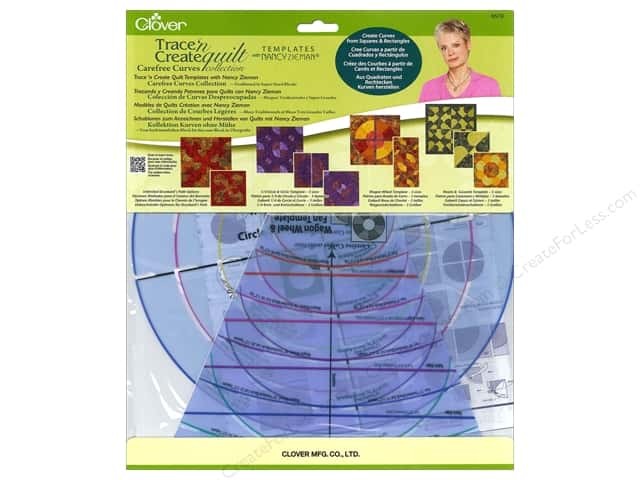 Clover Trace 'n Create Quilt Templates with Nancy Ziemman - Carefree Curves Collection