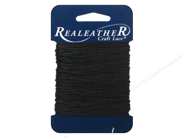 Silver Creek Waxed Thread 25 yd. Black