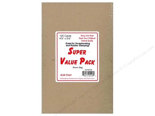 4 1/4 x 5 1/2 in. Blank Cards by Paper Accents 125 pc. Brown Bag