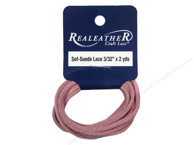 Silver Creek Soft Suede Lace 3/32 in. x 2 yd. Pink