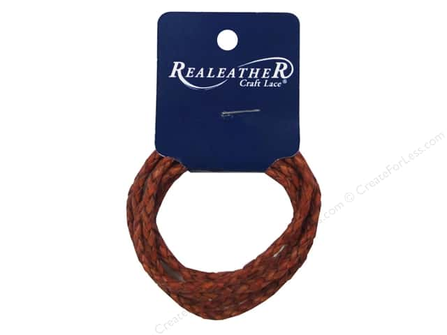 Silver Creek Leather Lace Braided 3 mm x 40 in. Cognac