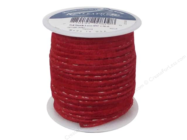 Silver Creek Soft Suede Lace 3/32 in. x 50 ft. Red