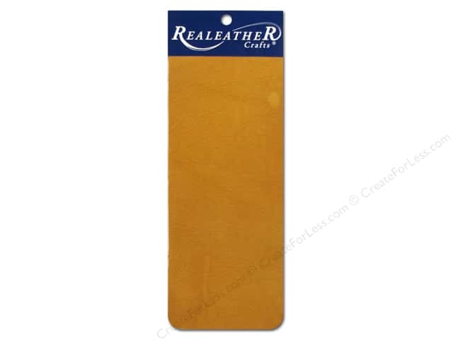 Silver Creek Leather Deertan Trim Piece 9 x 3 in. Gold