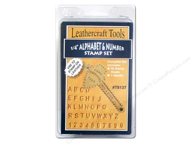Silver Creek Stamp Set 1/4 in. Alphabet & Numbers