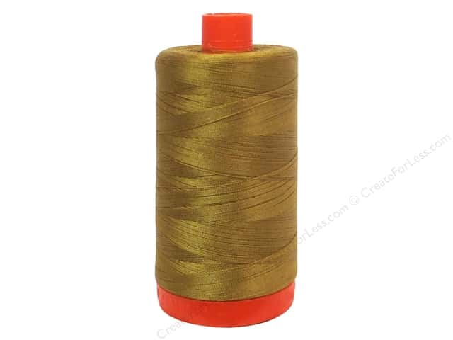 Aurifil Mako Cotton Quilting Thread 50 wt. Brass 1420 yd.