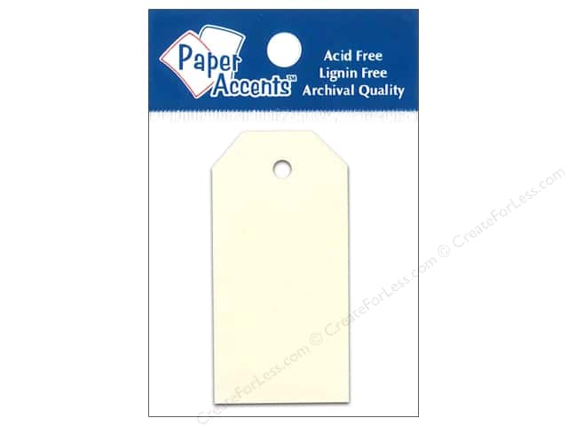 Craft Tags by Paper Accents 1 1/4 x 2 1/2  in. 25 pc. Manila
