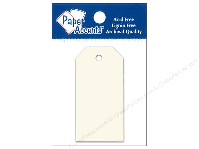 Craft Tags by Paper Accents 1 1/4 x 2 1/2 in. 25 pc. Cream