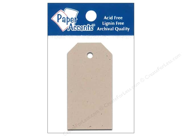Craft Tags by Paper Accents 1 1/4 x 2 1/2 in. 25 pc. Kraft