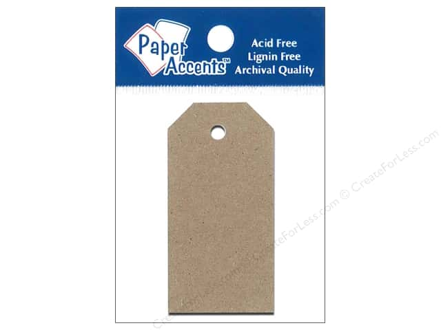 Craft Tags by Paper Accents 1 1/4 x 2 1/2 in. 25 pc. Brown Bag
