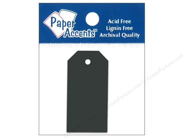 Craft Tags by Paper Accents 7/8 x 1 3/4 in. 20 pc. Black