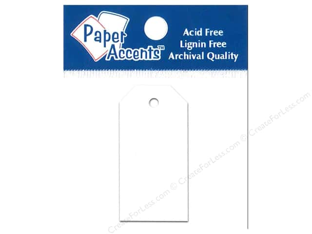 Craft Tags by Paper Accents 7/8 x 1 3/4 in. 25 pc. White