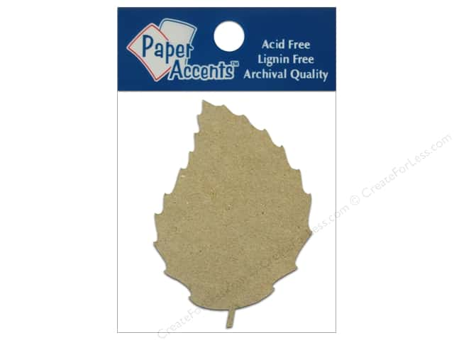 Paper Accents Chipboard Shape Rose Leaf 8 pc. Natural