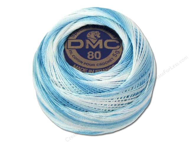 DMC Tatting Cotton Size 80 #67 Variegated Baby Blue (10 balls)