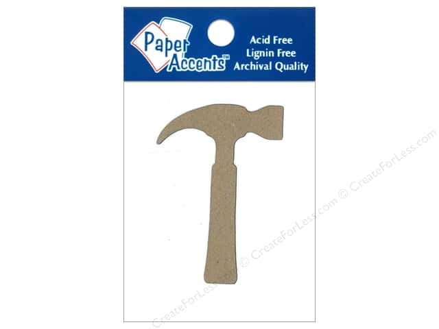 Paper Accents Chipboard Shape Hammer 8 pc. Natural