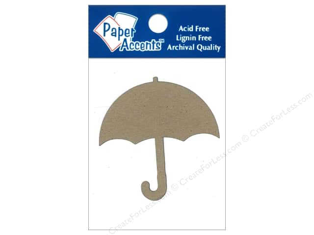 Paper Accents Chipboard Shape Umbrella 8 pc. KrNaturalft