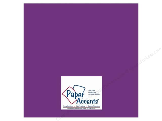 Paper Accents Cardstock 12 x 12 in. #10014 Stash Builder Blackberry (25 sheets)
