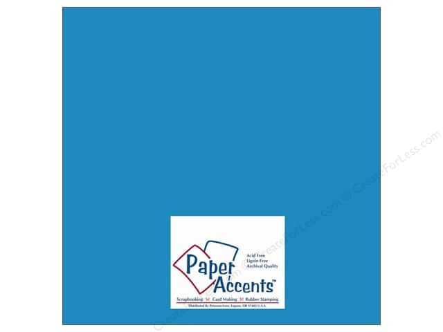 Cardstock 12 x 12 in. #10024 Stash Builder Capri Blue by Paper Accents (25 sheets)