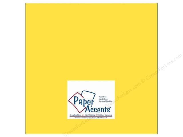 Cardstock 12 x 12 in. #10040 Stash Builder Lemon by Paper Accents (25 sheets)