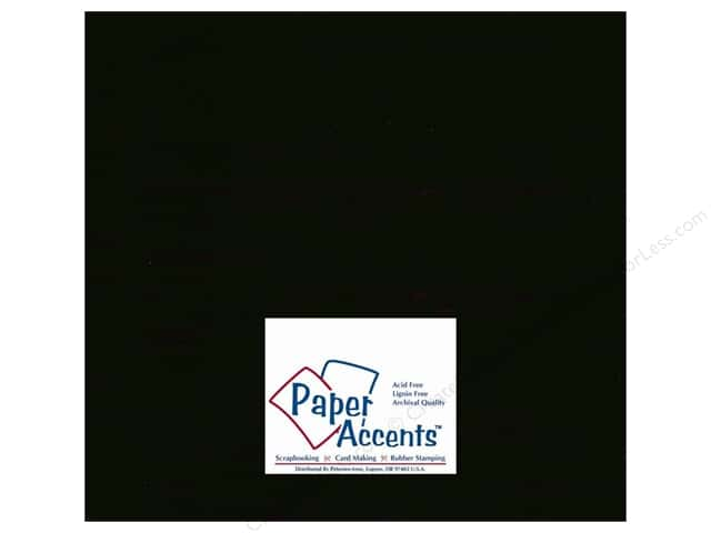 Cardstock 12 x 12 in. #10067 Stash Builder Ebony by Paper Accents (25 sheets)