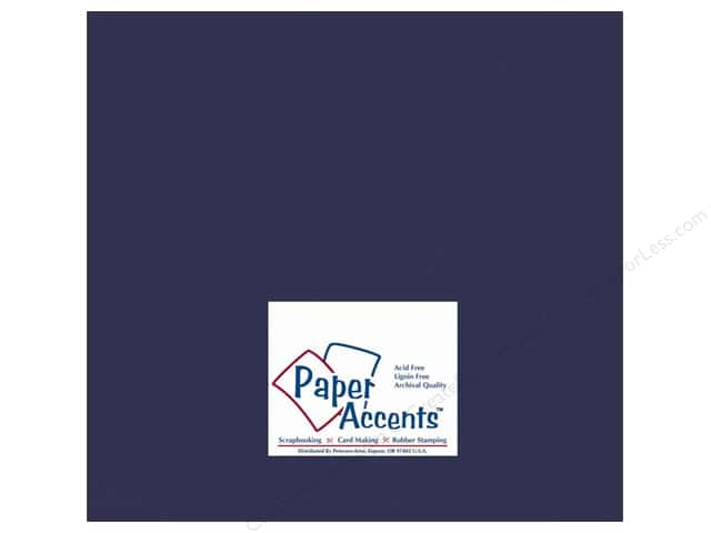 Cardstock 12 x 12 in. #10072 Stash Builder Cadet Blue by Paper Accents (25 sheets)