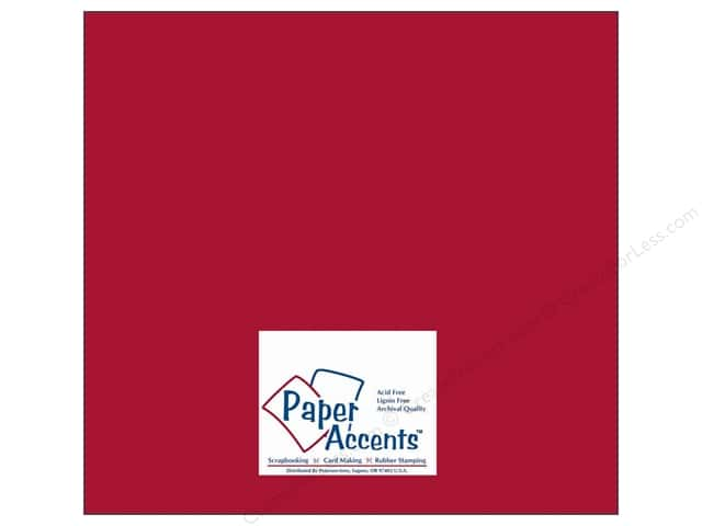 Cardstock 12 x 12 in. #10084 Stash Builder Garnet by Paper Accents (25 sheets)
