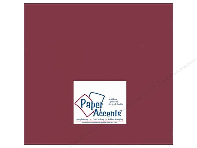 Cardstock 12 x 12 in. #10085 Stash Builder Rhubarb by Paper Accents (25 sheets)