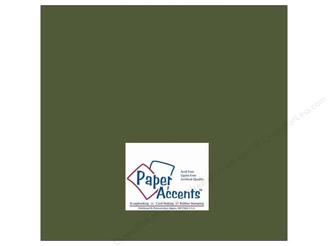 Paper Accents Cardstock 12 x 12 in. #10088 Stash Builder Green Bean (25 sheets)