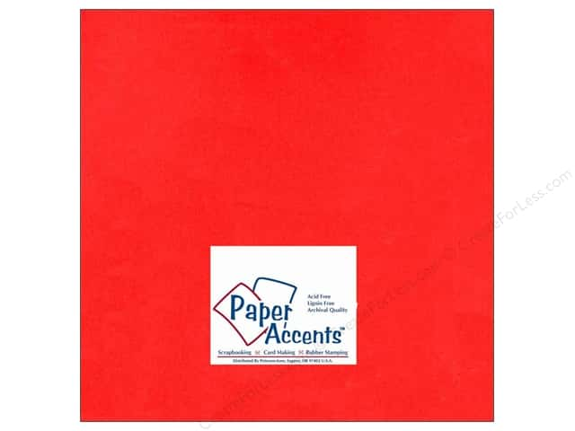 Paper Accents Cardstock 12 x 12 in. #101 Smooth Red (25 sheets)
