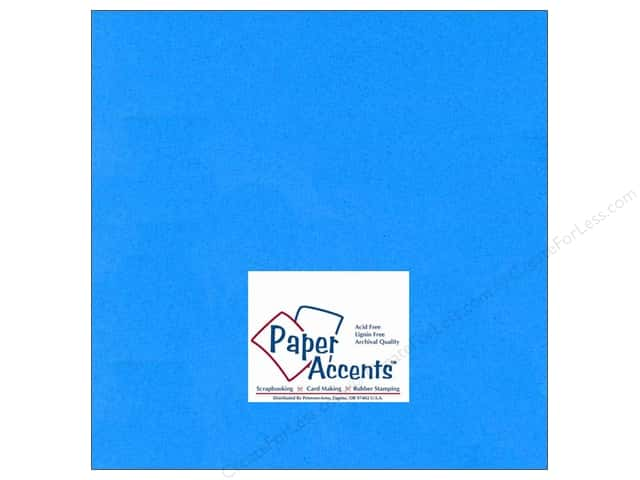 Paper Accents Cardstock 12 x 12 in. #103 Smooth Blue (25 sheets)