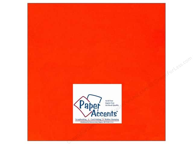 Cardstock 12 x 12 in. #104 Smooth Orange by Paper Accents (25 sheets)