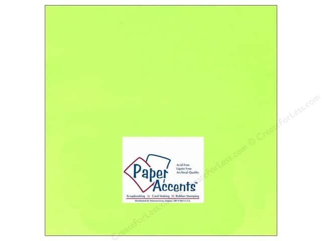 Paper Accents Cardstock 12 x 12 in. #107 Smooth Electric Green (25 sheets)